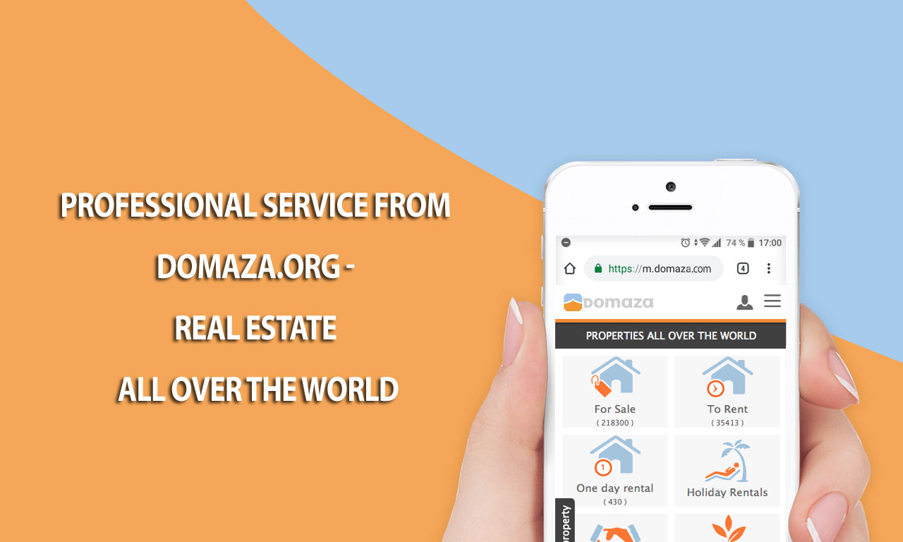 Professional service from Domaza.org - Real estate all over the world